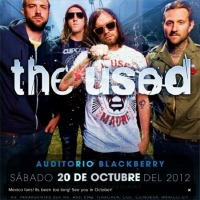 The Used invadirá el Auditorio Blackberry en octubre.