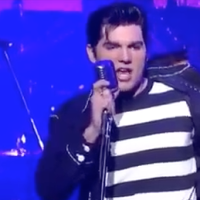Cody Ray Slaughter en David Letterman, como tributo a Elvis Presley
