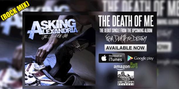 """... sencillo de Asking Alexandria: """"The Death Of Me"""" (Rock Mix"""