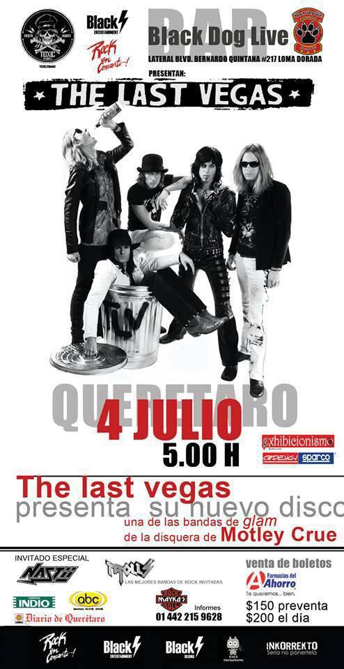 The Last Vegas en Queretaro promocionando nuevo disco