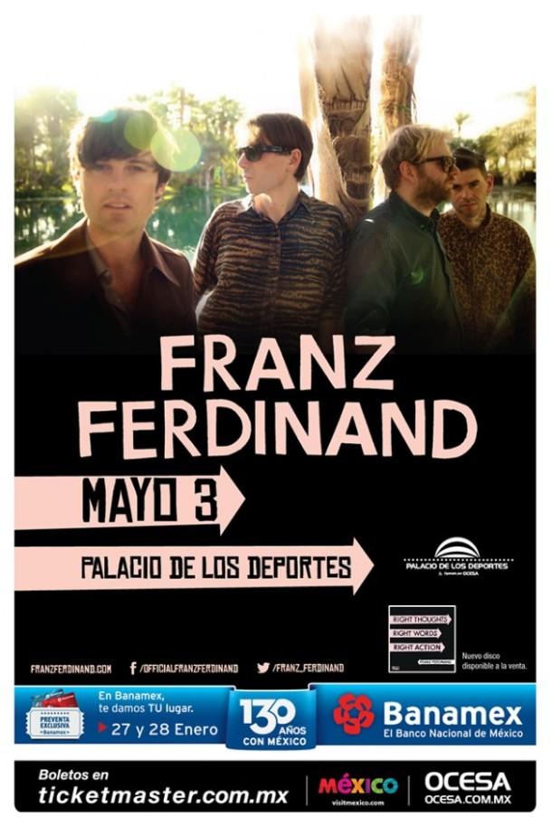 Franz-Ferdinand-en-México-2014-póster